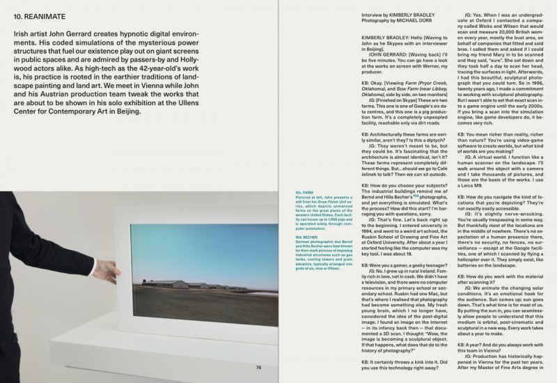 John Gerrard (c) by Michael Dürr : Cos Magazine 2