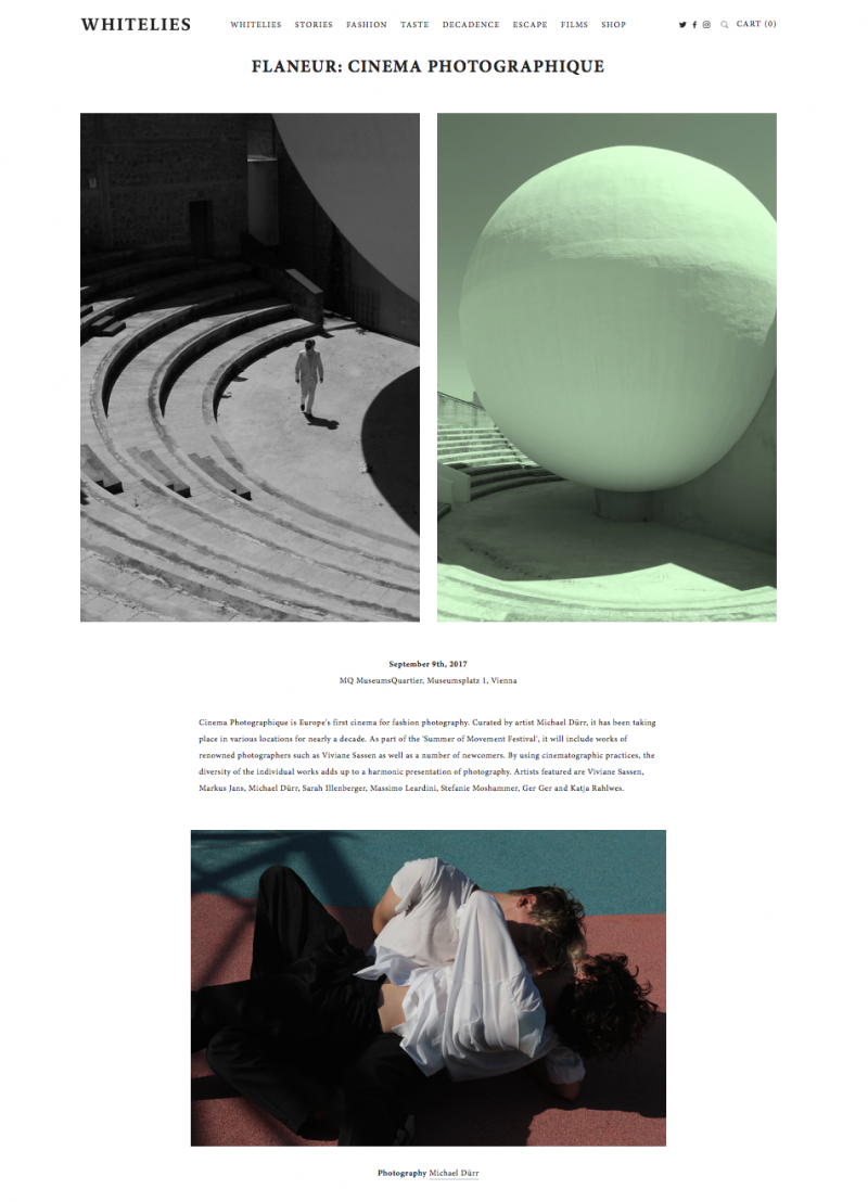 Cinema Photographique by Michael Dürr Whitelies Magazine