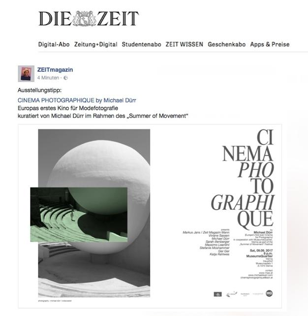 Die Zeit Magazin Cinema Photogaphique by Michael Dürr