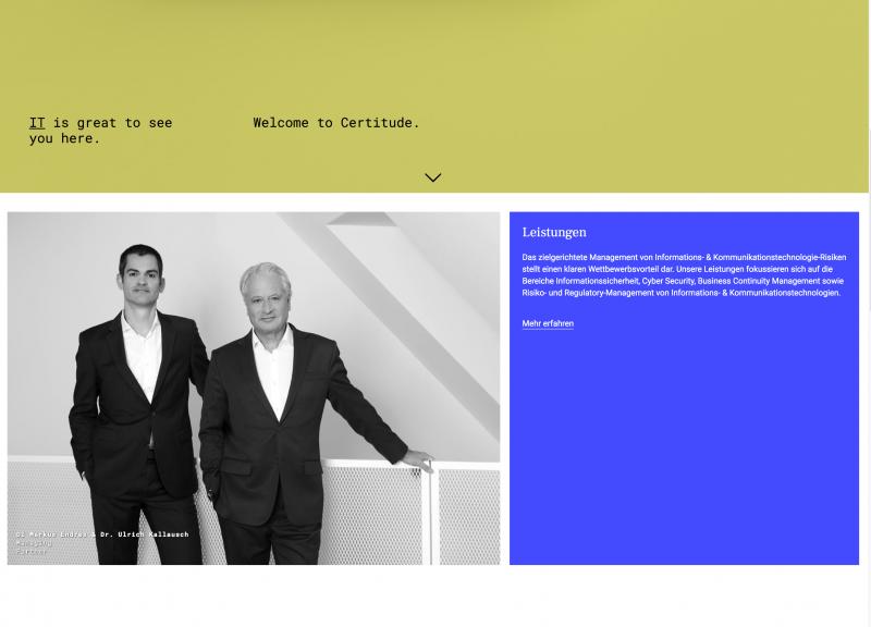 Certitude Consulting (c) Michel Dürr 2